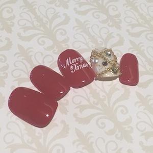 【OLさん向け】シンプルなクリスマスネイル!